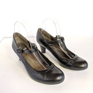 NATURALIZER Shoes Black Leather Pixie Mary Janes 8